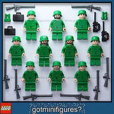 LEGO® FLESH ARMY MEN soldiers minifigures weapons rifle guys NEW RARE people x10