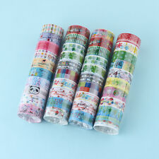10X DIY Washi Tape Paper Self Adhesive Roll Sticky Craft Decorative Scrapbooking