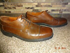 Mens Johnston & Murphy Sz 11M Brown Leather Lace-up Dress/Casual Shoes
