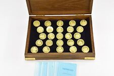 Franklin Mint The Great Sailing Ships Commemorative Box Collection 25 Brass