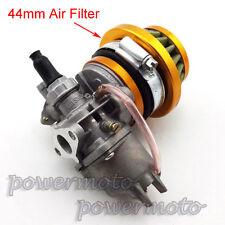 Mini Moto Carburettor Carb 44mm Air Filter Stack For 47 49cc ATV Buggy Dirt Bike