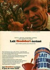 """Publicité Ancienne """" Boisson Lait écrémé HEUDEBERT (  P. 31 )"""