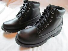 NWT MEN'S ST. JOHN'S BAY BLACK ANKLE WORK SPORTSMAN  BOOTS, size 9 1/2 M Lace Up
