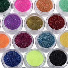 12 Colors Nail Art Decoration Metal Powder Glitter Dust Set For UV Gel Acrylic