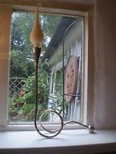 TALL DANISH GORGEOUS NICKLE CANDLE STAND AND DANISH TEARDROP CANDLE