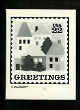 US Stamp FDC Publicity Photo Essay #2245 22c Christams Greetings House 1986