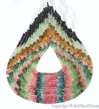 WE SELL QUALITY! HIGH GRADE, 4mm Natural Watermelon Tourmaline Faceted Beads