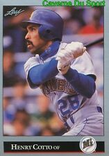 472   HENRY COTTO    SEATTLE MARINERS  BASEBALL CARD LEAF 1992