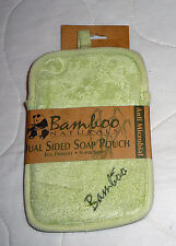 Bamboo Naturals Dual Sided Loofah Soap Pouch Soft Bath Body Scrub Sponge