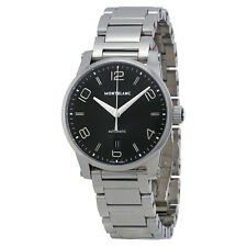 Montblanc Timewalker Automatic Black Dial Stainless Steel Mens Watch 110339