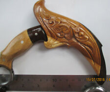 Ethnic Handmade PENCAK Silat Karambit Knife BIKER Weapon flower CARVED KERAMBIT