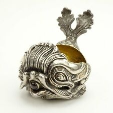 FABERGE 20th Century Russian 84 Silver Figural Dolphin Kovsh