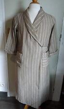 Robe de chambre ancienne femme/homme coton et lainage vers 1930