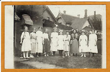 Real Photo Postcard RPPC - Young Women Ready to Play Croquet