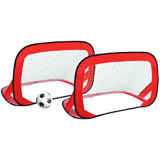 Charles Bentley Pair Of Pop Up Red Football Hockey Training Goals Kids Adults