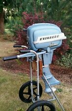 1954 Evinrude 7.5 HP Fleetwin Complete Running Outboard Motor Model 7514