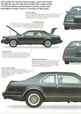 1990 Lincoln Mark VII LSC Article - Must See !!