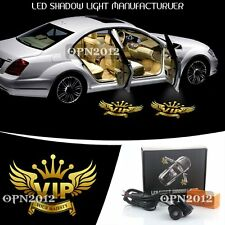 2x VIP Majesty 3D Logo Shadow Light Car Door Puddle Welcome Ghost Lamp Led Laser