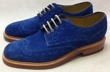 Oliver Sweeney electric blue Hasketon suede shoes  RRP £229 Size 6 BOXED