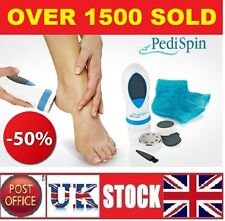 Pedi Spin Electric Portable Callus Remover With 12x Replacement Finishing Pads