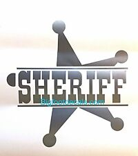 Sheriff Police Law Enforcement Decal Badge Protect And Serve Window Car Sticker