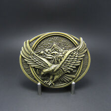 Bronze Plated Eagle In Flighting Belt Buckle Gürtelschnalle Boucle de ceinture