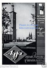 Agfa film publicitaire de 1950 photo cinéma exposition Cologne Dom schmölz westhalle AD