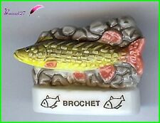 "Feve de collection Poisson Fish Edition Atlas "" Le BROCHET "" #E49"