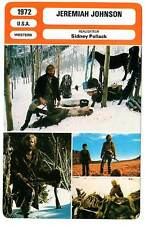 FICHE CINEMA : JEREMIAH JOHNSON - Redford,Geer,Pollack 1972