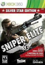 XBOX 360 SNIPER ELITE V2 Silver Star Edition Video Game WWII Action Adventure 2