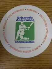 circa 1990's Cricket: Britannic Assurance Championships, Beer Mat, In The Shape