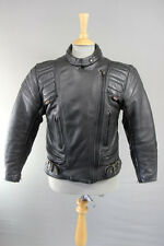 CLASSIC BRITISH MADE GEAR BLACK LEATHER BIKER JACKET SIZE 14