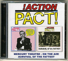 ACTION PACT 'Mercury Theatre- On the Air!'/'Survival of the Fattest' punk CD new