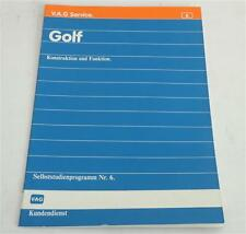 VW Selbststudienprogramm SSP 6 VW Golf I / 1 Konstruktion und Funktion St. 1974