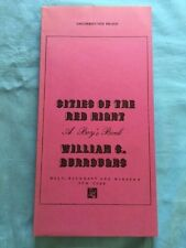 CITIES OF THE RED NIGHT - UNCORRECTED PROOF BY WILLIAM S. BURROUGHS