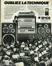 Publicité advertising 1980 Chaine Hi-Fi Tensai