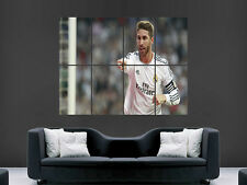 SERGIO RAMOS REAL MADRID FC FOOTBALL CLUB ART WALL LARGE IMAGE GIANT POSTER