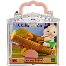 Sylvanian Families Baby Carry Case Tuxedo Cat on See-Saw NEW