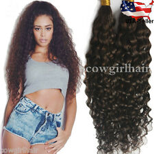 Deep Bulk Braiding Hair, Braids Hair Extensions for Twists #2 Dark Brown