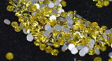 Genuine Crystal Gems Citrine SS6 Flatback Nail Art Swarovski Style 100pcs