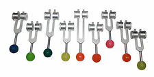 New Weighted Sacred Solfeggio 9 pc Tuning forks Tuners