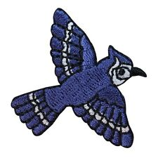 ID 1635 Blue Bird Bluejay Animal Embroidered Iron On Applique Patch