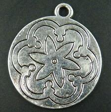 12pc B101-10763 Tibetan Silver Coin Pendants Charms 36x31x2mm