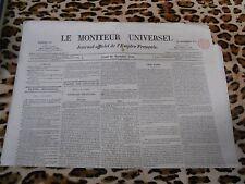 LE MONITEUR UNIVERSEL, journal officiel de l'empire français, n° 326, 22/11/1858