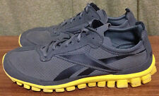 Reebok Men's size 5 Gray Yellow Lightweight Running Shoes Trainers  ~31
