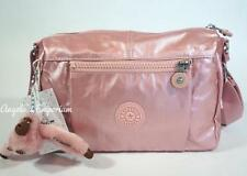 KIPLING WES Small Shoulder Crossbody Bag Icy Rose Metallic