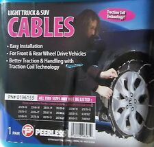 TIRE CABLE SNOW CHAINS, PAIR OF LIGHT TRUCK & SUV, PEERLESS, 0196155