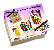 House Of Crafts vetro dipinto STARTER KIT Craft VERNICE 2 CANDLE votives sc050