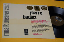 PIERRE BOULEZ LP CONTEMPORARY MUSIC ITALY HARMONIA MUNDI NM TOP AUDIOFILI LAMIN
