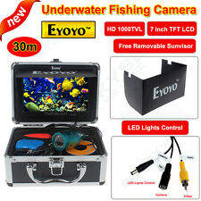 "7"" LCD Monitor 30M Underwater 1000TVL Camera Sea/Ice/Boat Fishing Fish Finder"